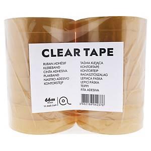 Lyreco budget tape, B 19 mm x L 66 m, per pak van 16 rolletjes plakband