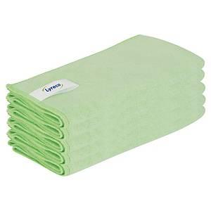 Pack de 5 bayetas de microfibra Lyreco Pro - 53 x 70 cm - verde