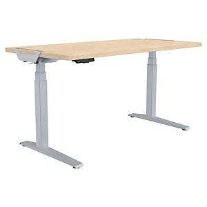 Fellowes Levado Height Adjustable Desk Maple - 1600X800mm
