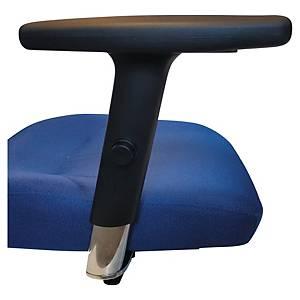 Accoudoirs Intrata 3D pour fauteuil de bureau, plastique, noir