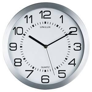 Nástenné hodiny Unilux Moon, priemer 35,5 cm, sivé