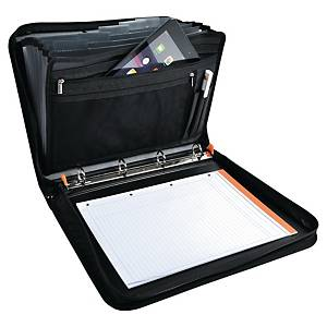Exacompta Exactive Polypropylene A4 Conference Folder, 4 Rings, Black