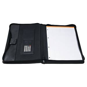 Exactive 55534E Conference Folder With Calculator Black
