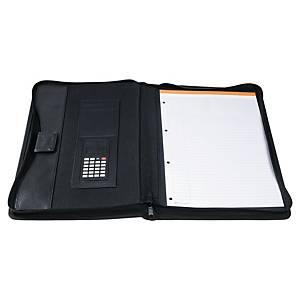 Konferansemappe Exactive® A4 med kalkulator, 4-rings i sort
