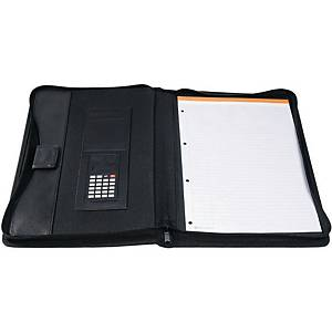 Exacompta Exactive Polypropylene A4 Conference Folder With Calculator, Black
