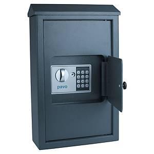 Bezpečnostná skrinka na 50 kľúčov Pavo, sivá