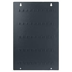 Panel na 50 klíčů s háčky Pavo, šedý