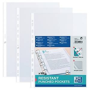 Oxford Punched Pockets A4 90 Microns Clear - Pack of 100