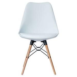 Chaise visiteur Paperflow Dodgewood - polypropylène - blanc - lot de 2