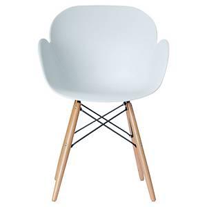 Chaise visiteur Paperflow Kiwood - polypropylène - blanc - lot de 2