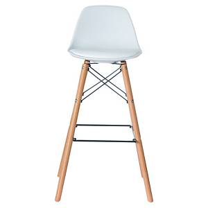 BX2 PAPERFLOW STEELWOOD H/STOOL BCH WH