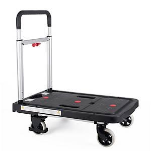 Chariot de transport Pavo, capacité de charge jusqu à 150 kg, noir/argenté