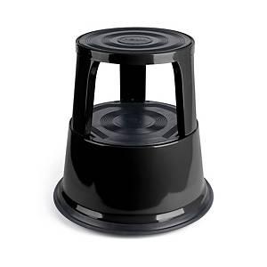 Tabouret roulant Pavo, capacité jusqu à 150 kg, noir
