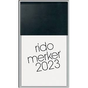 Tischkalender 2020 Rido Merker 35083, 1 Tag / 1 Seite, 10,8 x 20,1cm, schwarz