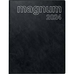 Buchkalender 2020 ide 27042 Magnum, 1 Woche / 2 Seiten, 18,3x24cm, schwarz