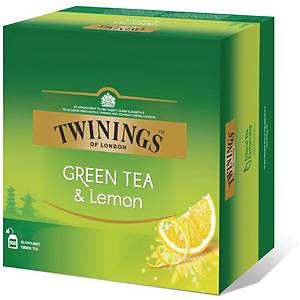 PK100 TWININGS GREEN TEA LEMON TEA BAG