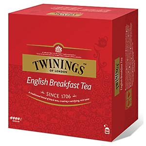 Te Twinings English Breakfast, pakke à 100 poser