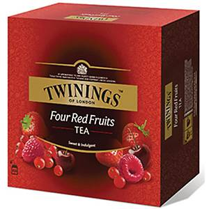 PK100 TWININGS FOUR RED FRUITS TEA BAG