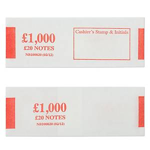 Notebands £1000 In £20 - Pack of 500