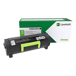 Lexmark 51B2H00 toner cartridge, zwart