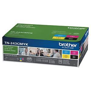 Cartouche de toner Brother TN243CMYK - noire + 3 couleurs