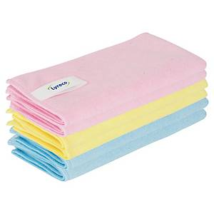 Pack de 6 bayetas de microfibra Lyreco Pro - 40 x 40 cm - colores surtidos