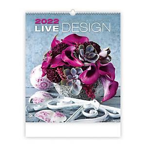 Live Design - měsíční mezinárodní kalendárium, 14 listů, 45 x 52 cm