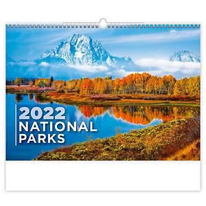 National Parks - měsíční mezinárodní kalendárium, 14 listů, 45 x 31,5 cm
