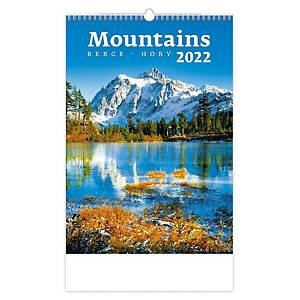 Hory - měsíční mezinárodní kalendárium, 14 listů, 31,5 x 45 cm