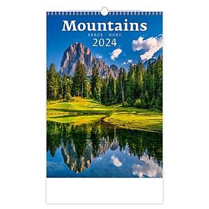 Hory - mesačné medzinárodné kalendárium, 14 listov, 31,5 x 45 cm