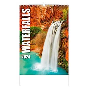 Waterfalls - měsíční mezinárodní kalendárium, 14 listů, 31,5 x 45 cm