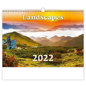 Landscapes - měsíční mezinárodní kalendárium, 14 listů, 45 x 31,5 cm