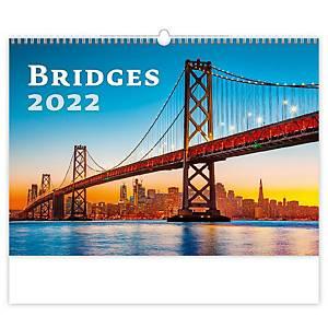 Bridges - měsíční mezinárodní kalendárium, 14 listů, 45 x 31,5 cm