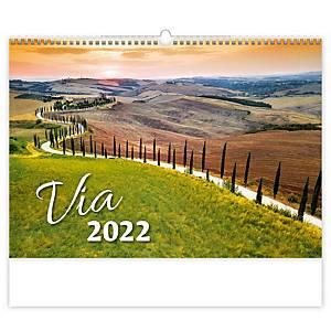 Via - mesačné medzinárodné kalendárium, 14 listov, 45 x 31,5 cm