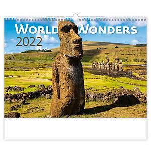 World Wonders  - měsíční mezinárodní kalendárium, 14 listů, 45 x 31,5 cm