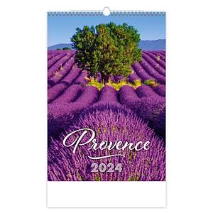 Provence - měsíční mezinárodní kalendárium, 14 listů, 31,5 x 45 cm