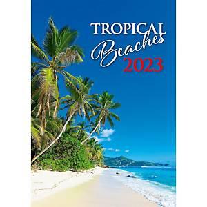 Tropical Beaches - mesačné medzinárodné kalendárium, 14 listov, 31,5 x 45 cm