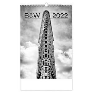 B & W - měsíční mezinárodní kalendárium, 14 listů, 31,5 x 45 cm