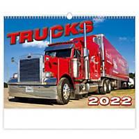 Trucks - měsíční mezinárodní kalendárium, 14 listů, 45 x 31,5 cm