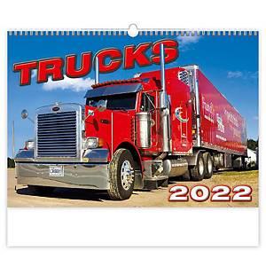 Trucks - mesačné medzinárodné kalendárium, 14 listov, 45 x 31,5 cm
