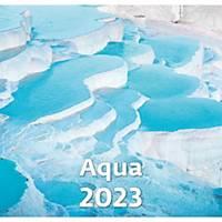 Aqua - měsíční mezinárodní kalendárium, 14 listů, 34 x 32,5 cm