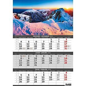 Hory - české/slovenské tříměsíční kalendárium, 12 listů, 31,5 x 45 cm