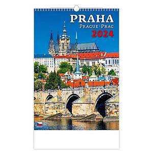 Praha - české měsíční jmenné kalendárium, 14 listů, 31,5 x 45 cm