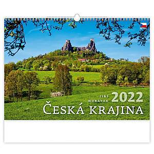 Česká krajina - české měsíční jmenné kalendárium, 14 listů, 45 x 31,5 cm