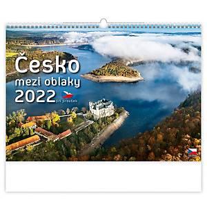 Česko mezi oblaky - české měsíční jmenné kalendárium, 14 listů, 45 x 31,5 cm