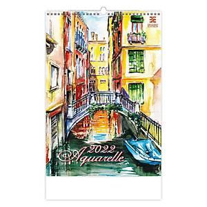Aquarelle - měsíční mezinárodní kalendárium, 14 listů, 34 x 48,5 cm