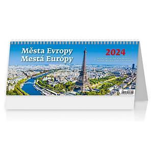 Města Evropy - české/slovenské týdenní sloupcové kalendárium, 60 + 2 stran
