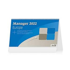 Manager Europe - české/slovenské týdenní sloupcové kalendárium + Aj + Nj