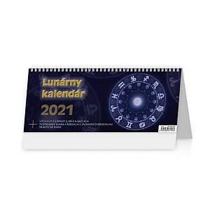 Lunárny kalendár - slovenské týždenné riadkové kalendárium, 60 + 2 strán