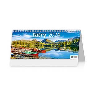 Tatry - slovenské týždenné stĺpcové kalendárium, 60 + 2 strán, 32,1 x 13,4 cm